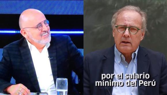 El precandidato por Acción Popular, Alfredo Barnechea intentó explicar por qué dijo que considera que el salario mínimo vital en el Perú es de 750 soles durante la entrevista que le realizara el periodista Beto Ortiz