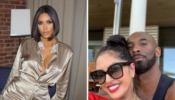 Vanessa Bryant envió un par de las zapatillas especiales de su esposo Kobe a Kim Kardashian. (Foto: Instagram / @kimkardashian / @kobebryant).
