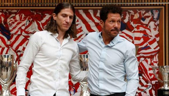 Diego Simeone recibe critica de su expupilo Filipe Luis (Foto: EFE)