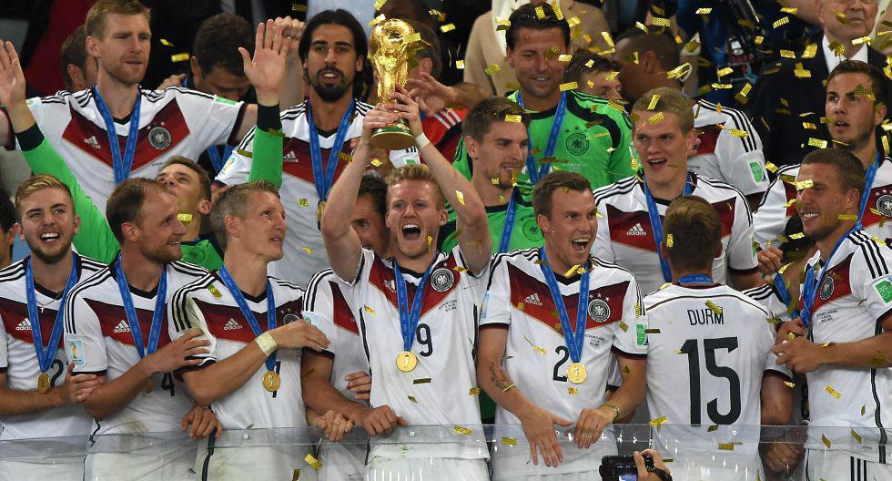 El presente de los campeones alemanes del Mundial Brasil 2014. (Foto: AFP)