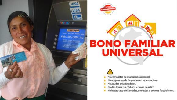 El bono universal ya viene siendo cobrado por millones de peruanos