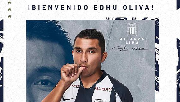 Alianza Lima anunció el fichaje de Edhu Oliva. (Foto: @ClubALoficial)