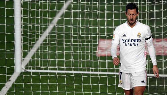 Real Madrid pagó más de 100 millones de euros por Eden Hazard. (Foto: AFP)