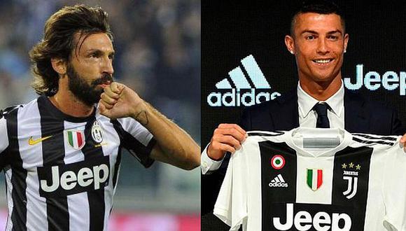 Andrea Pirlo alabó el fichaje de Cristiano a la Juventus