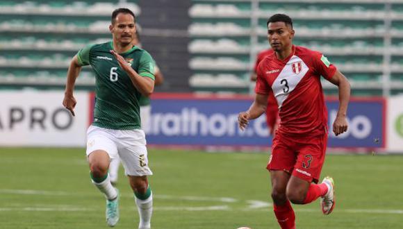 Marcos López disputó los 90 minutos del Perú vs. Bolivia por las Eliminatorias. (Foto: AFP)