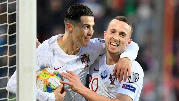 Cristiano Ronaldo llegó a 99 goles con la selección de Portugal. (Foto: AFP)