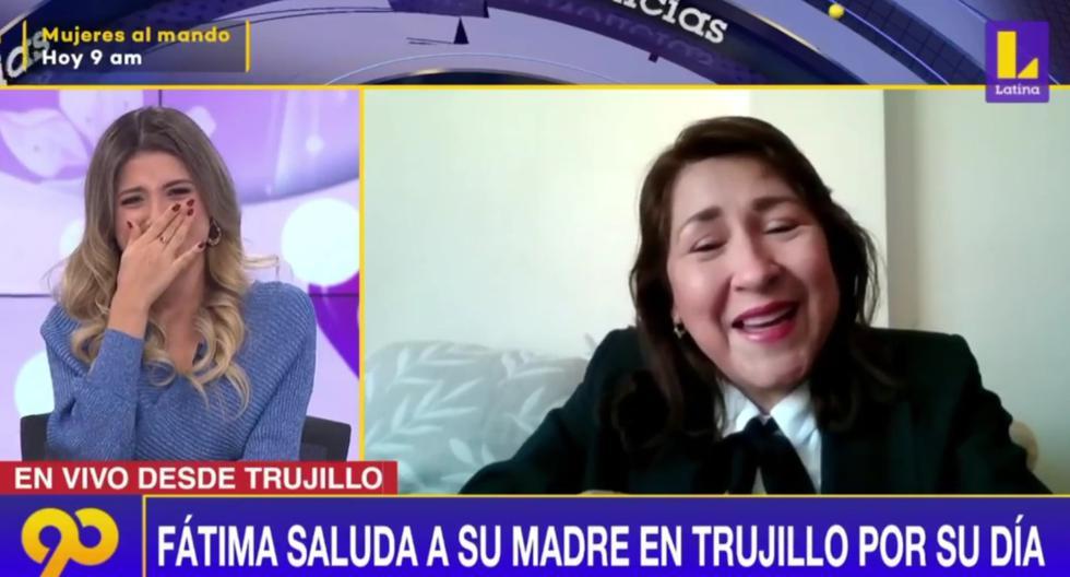 Feliz Día de la Madre: Periodista Fátima Aguilar se emocionó al ser recibir saludo de su mamá [VIDEO] | TRENDS | EL BOCÓN