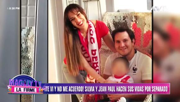 Silvia Cornejo y Jean Paul Gabuteau hacen sus vidas por separado. (Foto: Captura Magaly TV: La Firme)
