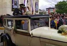Atleta peruana Ines Melchor se casó en Huancayo con Teniente de la Policía Nacional | VIDEO