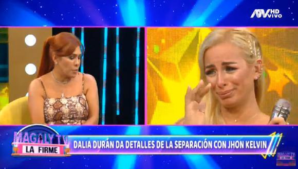 Dalia Durán le pide el divorcio a John Kelvin. (Foto: Captura Magaly TV: La Firme)