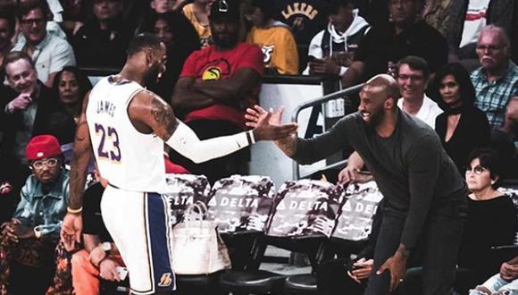LeBron James dedicó emotiva publicación a Kobe Bryant. (Foto: Instagram)