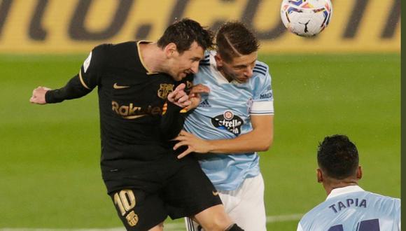 A los 50′ del Barcelona vs Celta, Lionel Messi anotó el otro tanto de los azulgranas tras un rebote en el defensor del conjunto gallego.