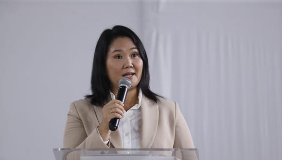 Keiko Fujimori afirma que no será candidata en las próximas elecciones municipales y regionales. (Foto archivo GEC)