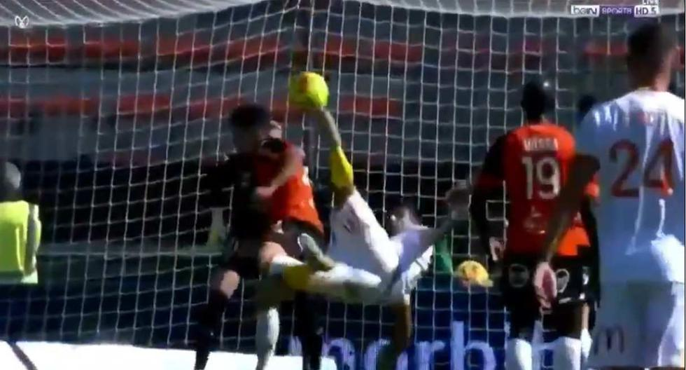 Facundo Medina marcó un golazo de chalaca en la Ligue 1 de Francia | VIDEO