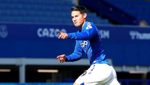 James Rodríguez no estuvo en el partido entre Everton vs. Newcastle por lesión. (Foto: AFP)