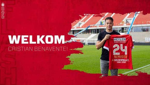 Cristian Benavente jugará en el Royal Antwerp de Bélgica. (Foto: @official_rafc)