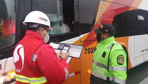 Inspectores verificarán que empresas y pasajeros cumplan medidas de bioseguridad del COVID-19. Foto: Sutran