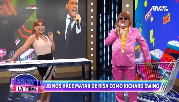 Jorge Benavides se reencuentra con Magaly Medina. (Foto: Captura ATV)