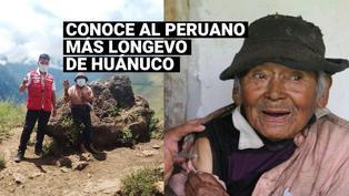 Un adulto mayor de 121 años fue vacunado contra la COVID-19 en Huánuco