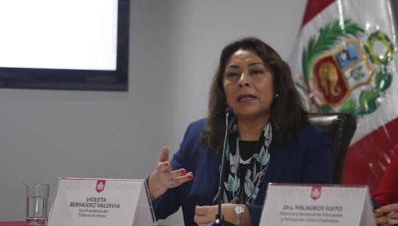 Fernando Sagasti nombró a Violeta Bermúdez como la nueva presidenta del Consejo de Ministros para el periodo de transición. FOTO: El Comercio.