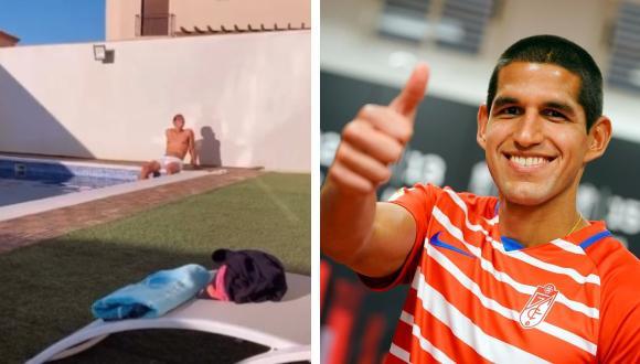 El defensa peruano vive junto a su esposa en una linda casa con piscina.