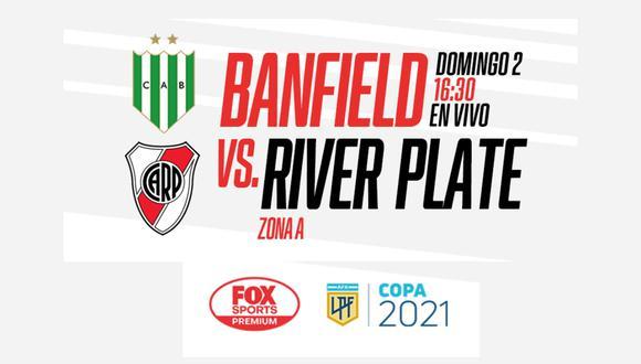 River Plate vs. Banfied EN VIVO ONLINE   Sigue el partido por la fecha 12 de la Copa de la Liga Profesional desde el estadio Florencio Solá.