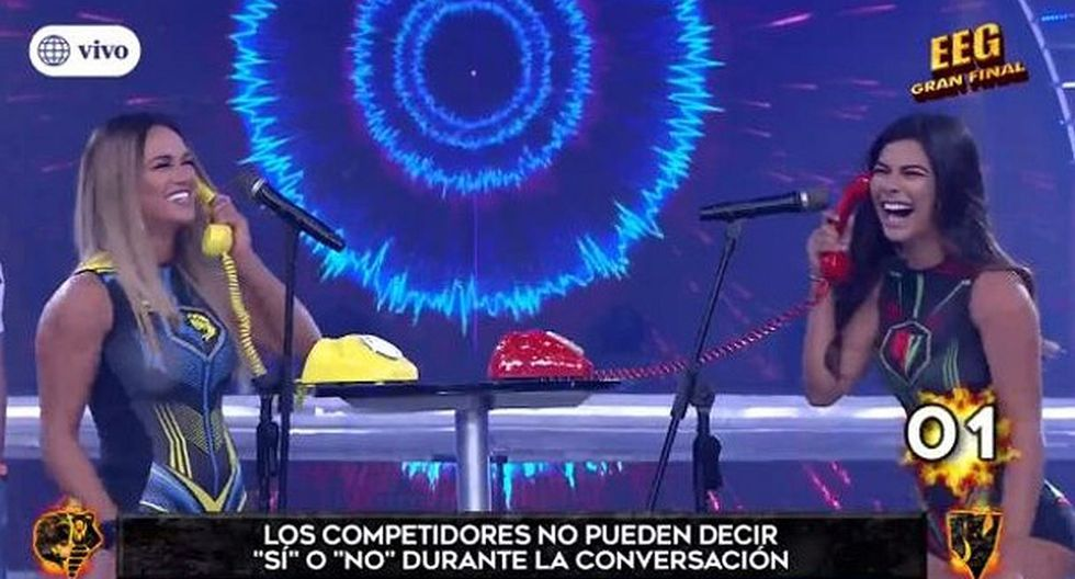 """Esto es guerra"": Angie Arizaga puso en aprietos a Ivana Yturbe con con preguntas sobre Mario Irivarren. (Foto: Captura)"