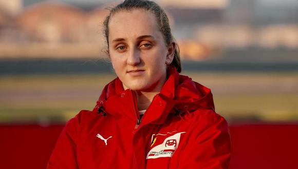 Maya Weug, primera chica piloto de la Ferrari Drivers Academy. (Foto: FDA)