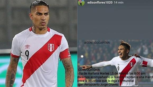 Jugadores de la selección peruana convocan a marcha en apoyo a Paolo Guerrero