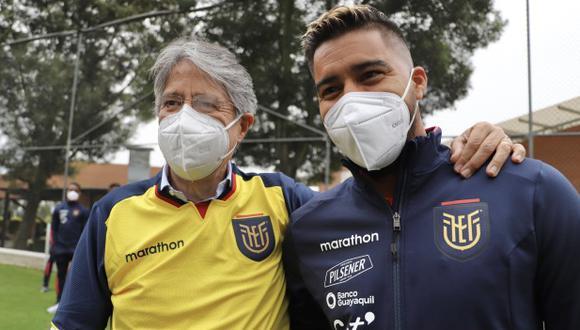 La selección ecuatoriana recibió la visita del presidente del país. (Foto: FEF)