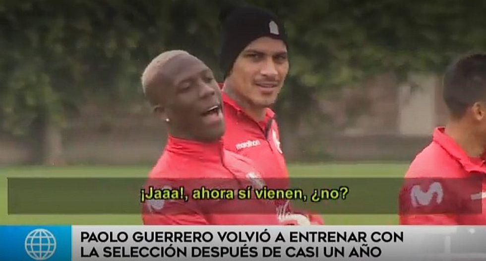 Selección peruana: Luis Advíncula 'troleó' a periodistas tras entrenamiento de la 'bicolor'   FOTO