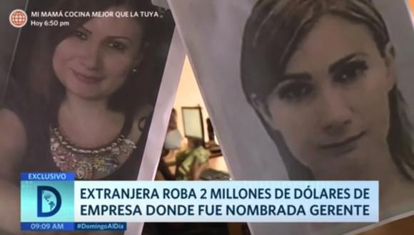 Venezolana era gerente en empresa y retiró en cuatro días más de 2 millones de dólares tras decir que se moría por contraer coronavirus. (Foto: Captura América TV).