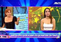 """Vanessa López ante las constantes cartas notariales de 'Tomate' Barraza: """"Es como un acoso"""""""
