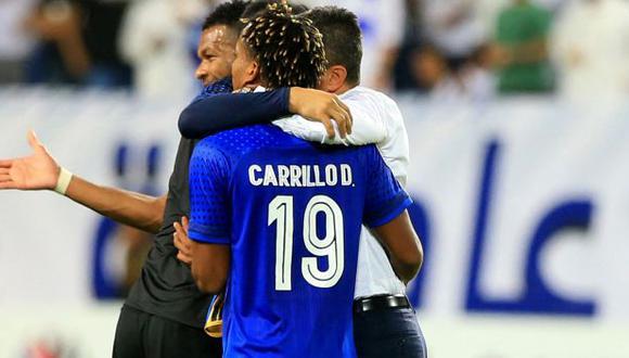 André Carrillo jugó 70 minutos en la reciente derrota de Al-Hilal. (Foto: AFP)