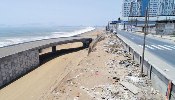 Costa Verde del Callao: Obras abandonadas y vecinos lo usan como basurero. (Alessandro Currarino)
