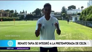 Renato Tapia sacrifica sus vacaciones y se suma a los trabajos del Celta de Vigo