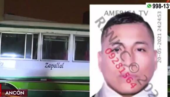 Conductor de coaster fue atacado de tres disparos en la cabeza en Ancón. (Captura: América Noticias)