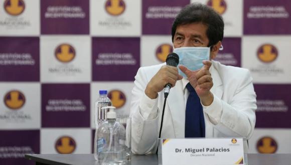 Miguel Palacios se encuentra estable y cumpliendo cuarentena, indicó el Colegio Médico del Perú. (GEC)