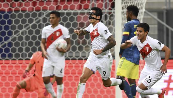 La selección peruana perdió sobre el final con Colombia en el partido por el tercer puesto de la Copa América. (Photo by EVARISTO SA / AFP)