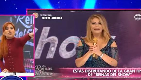 "Magaly hizo encuesta de quién bailó mejor en ""Reinas del show"". (Foto: captura de video)"