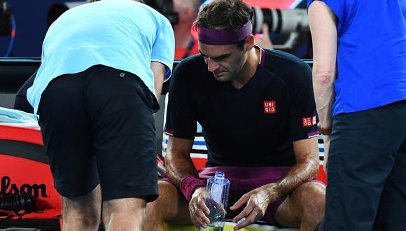 Federer, de 39 años, reapareció en el ATP 250 de Doha. (Foto: AFP)