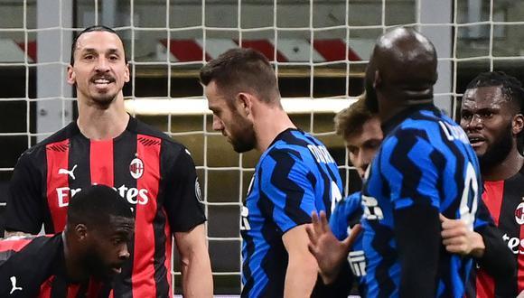 Romelu Lukaku y Zlatan Ibrahimovic fueron protagonistas de los cuartos de final de Copa Italia. (Foto: AFP)