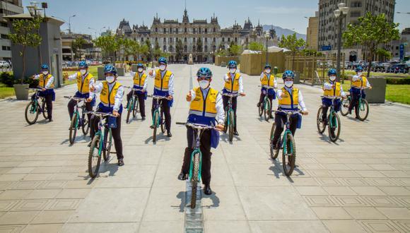 Municipalidad de Lima viene reforzando las acciones  de control de tránsito con el apoyo del Escuadrón Ciclista. (Foto: Municipalidad de Lima)