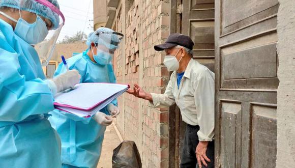 Personal de salud visita hogares ante la pandemia por el coronavirus (Foto: Andina/Minsa)