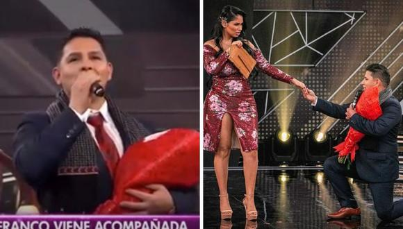 """Pamela Franco y Néstor Villanueva interpretaron """"Isabella, mujer enamorada"""". (Foto: Captura América TV)."""