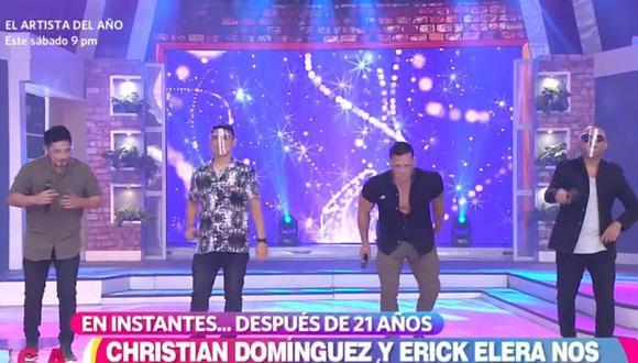 """Christian Domínguez y Erick Elera anunciaron la nueva versión de """"Tic Tic Tac"""". (Foto: Captura de video)"""