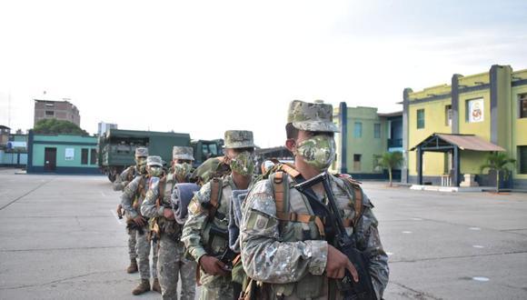 Despliegue de militares busca garantizar la seguridad y mantener el orden durante la jornada electoral de este domingo 6 de junio. (Foto: @CCFFAA_PERU)