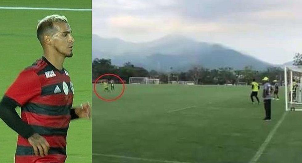 Miguel Trauco marcó golazo en los entrenamientos de Flamengo   VIDEO