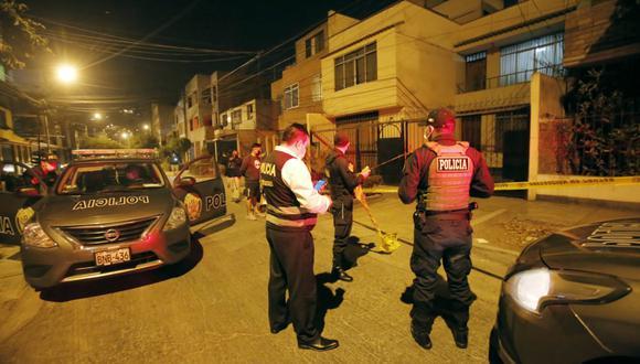 Dos delincuentes son baleados por hombre en San Martín de Porres. (Foto: César Grados/@photo.gec)