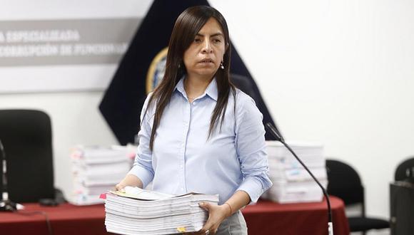 Giulliana Loza, abogada de Keiko Fujimori, dijo que José Domingo Pérez busca inmiscuirse en el proceso electoral. (Foto: Joel Alonzo)